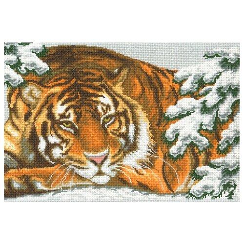 рисуем осень канва с нанесенным фоном 37 49 37х49 26х40 матренин посад 1722 Амурский тигр Рисунок на канве 37/49 37х49 (26х40) Матренин Посад 356