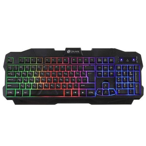 Клавиатура Oklick 757G MADNESS черный USB for gamer LED