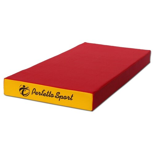 Спортивный мат 1000х500х100 мм Perfetto Sport № 1 красно/жёлтый