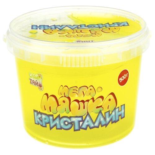 Купить Лизун 1 TOY Мега-Мяшка Кристалин желтый, Игрушки-антистресс