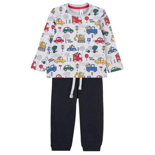 Комплект одежды playToday размер 74, темно-синий/серый комплект одежды playtoday размер 74 темно синий серый