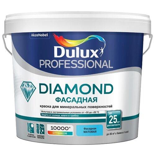 Фото - Краска акриловая Dulux Diamond Фасадная Гладкая влагостойкая матовая бесцветный 4.5 л краска акриловая alpina долговечная фасадная влагостойкая матовая бесцветный 2 35 л