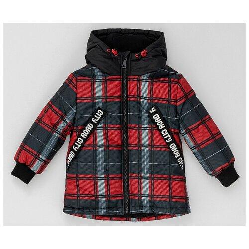 Купить Куртка Button Blue размер 128, красный, Куртки и пуховики