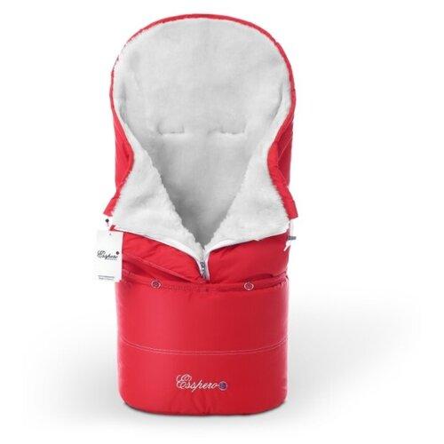 Купить Конверт в коляску Esspero Transformer White (натуральная 100% шерсть) (Red), Конверты и спальные мешки
