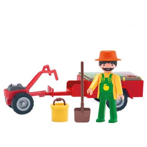 Фигурка Efko Фермер с аксессуарами 31214EF-CH efko игровая фигурка efko пожарный 8 см с аксессуарами