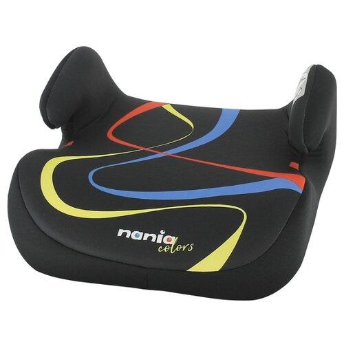 Бустер группа 2/3 (15-36 кг) Nania Topo Comfort Grafik, black автокресло группа 1 2 3 9 36 кг little car ally с перфорацией черный