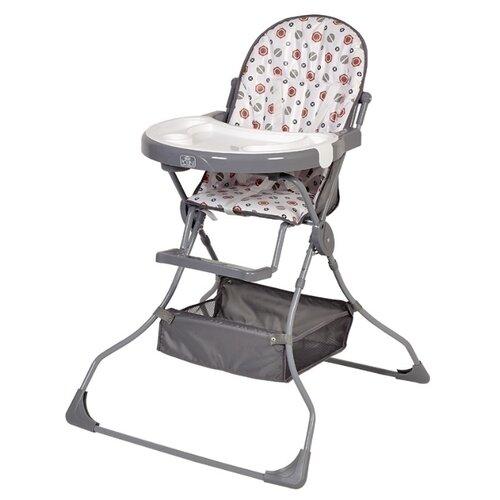 Стульчик для кормления Polini 252 серый стульчик для кормления babys piggy розовый