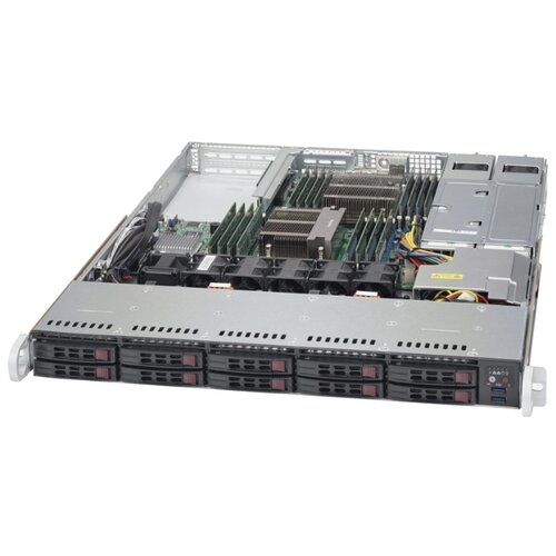 Сервер Supermicro SuperServer 1028R-WTRT без процессора/без ОЗУ/без накопителей/количество отсеков 2.5\