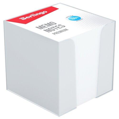 Купить Berlingo блок для записи Premium 9 х 9 см, пластиковый бокс (ZP8608) белый, Бумага для заметок