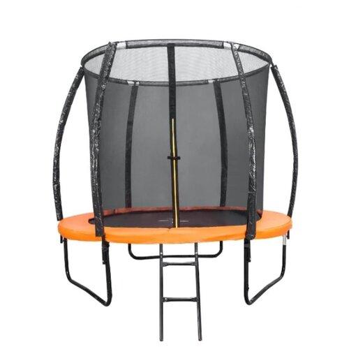 Каркасный батут DFC Trampoline Kengoo II 8FT-BAS-BO 244х244х205 см оранжевый/черный