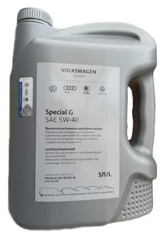 Купить Моторное масло VOLKSWAGEN Special G 5W-40 5 л по низкой цене с доставкой из Яндекс.Маркета (бывший Беру)