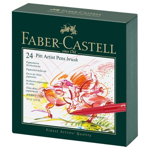 Купить Faber-Castell Набор капиллярных ручек Pitt Artist Pen Brush, 24 цвета, Ручки