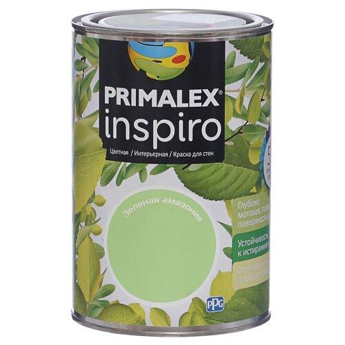 Краска PRIMALEX Inspiro моющаяся матовая зеленая амазония 1 л