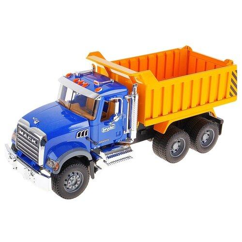 Купить Грузовик Bruder Mack (02-815) 1:16 53 см синий/желтый, Машинки и техника