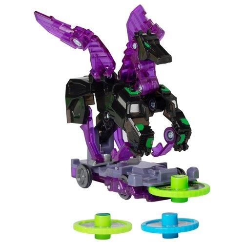Интерактивная игрушка трансформер РОСМЭН Дикие Скричеры. Линейка 2. Найтвижн (34832) черный/фиолетовый интерактивная игрушка трансформер росмэн дикие скричеры линейка 2 баттлтаск 35891