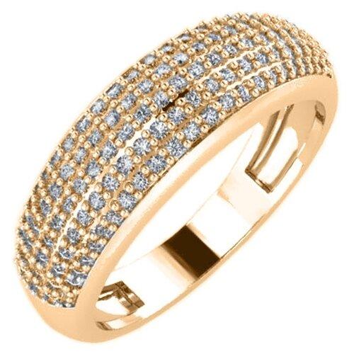 POKROVSKY Женское золотое кольцо со вставками из фианитов 1100727-00770, размер 17