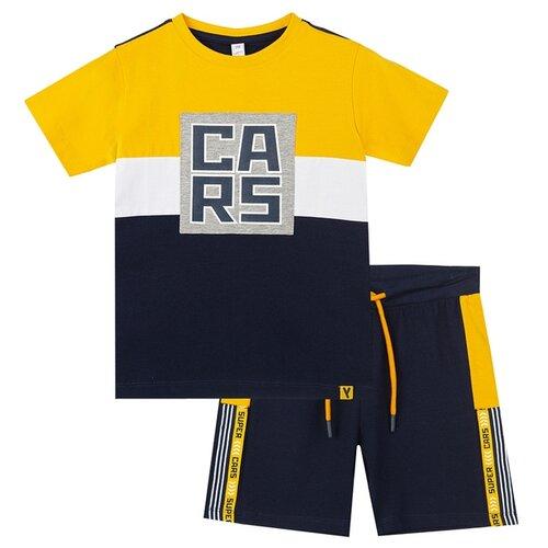 Купить Комплект одежды playToday размер 122, синий/желтый/белый, Комплекты и форма
