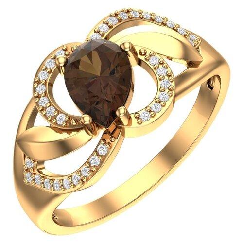 POKROVSKY Женское золотое кольцо с топазом и фианитами 1100980-00630, размер 18.5