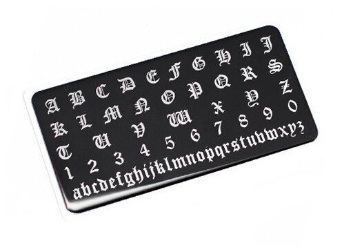 Купить Трафарет ONIQ Tattoo №1 16 х 2 см black по низкой цене с доставкой из Яндекс.Маркета (бывший Беру)