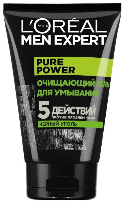 L'Oreal Paris Гель для умывания Men Expert Pure Power с черным углем