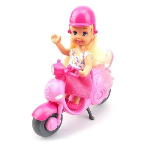 Кукла S+S Toys на мотоцикле 16 см, 200035072
