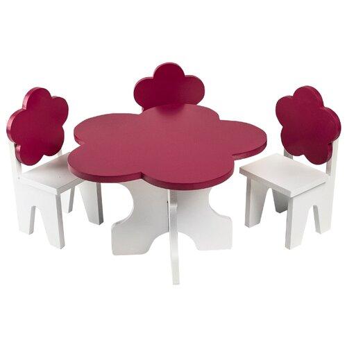 Купить PAREMO Набор мебели для кукол Цветок (PFD120-45/PFD120-46/PFD120-44/PFD120-42/PFD120-43) белый/ягодный, Мебель для кукол