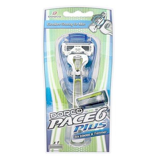 Бритвенный станок Dorco Pace 6 Plus, сменные кассеты 1 шт. бритвенный станок dorco pace 4 одноразовый 4 шт