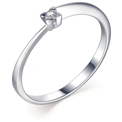 АЛЬКОР Кольцо с 1 бриллиантом из белого золота 13299-200, размер 15.5 алькор кольцо с 1 бриллиантом из белого золота 13299 200 размер 17