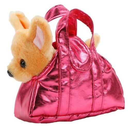 Мягкая игрушка Мой питомец Собака в сумочке чихуахуа 18 см