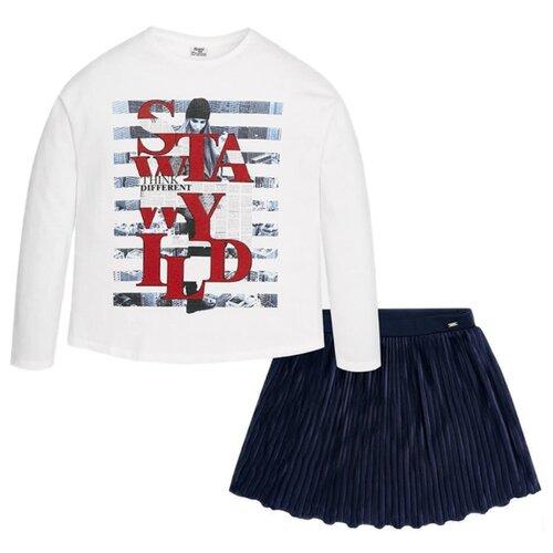 Комплект одежды Mayoral размер 157, белый/синий