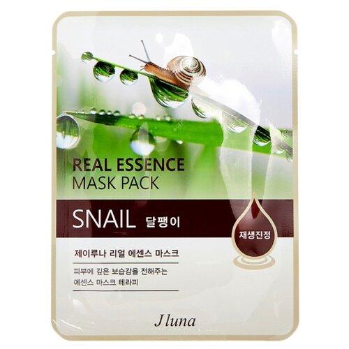 Фото - Juno тканевая маска Real Essence Mask Pack с муцином улитки, 25 мл маска тканевая juno j luna q10 для лица 3 шт 25 мл
