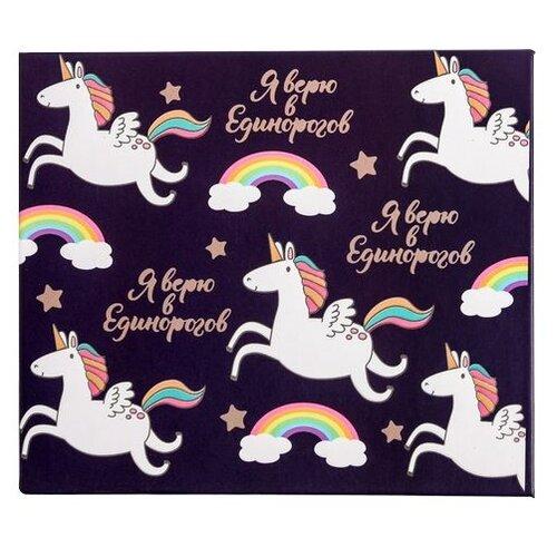 Купить ArtFox набор блоков для записей с липким слоем Радужный единорог Я верю в единорогов (4613139) черный/розовый, Бумага для заметок