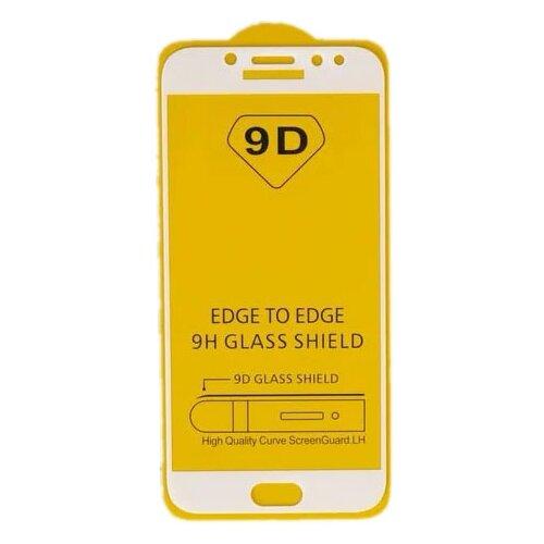 Фото - Защитное стекло LuazON 9D для Samsung Galaxy J7 Pro прозрачный/белый защитное стекло skinbox apple watch 38mm