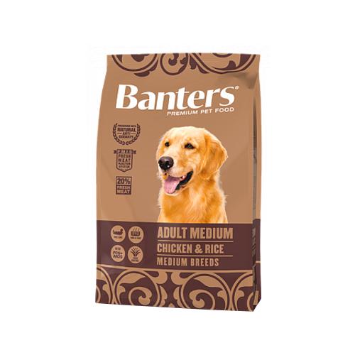 Сухой корм для собак Banters курица, с рисом 3 кг (для средних пород) недорого