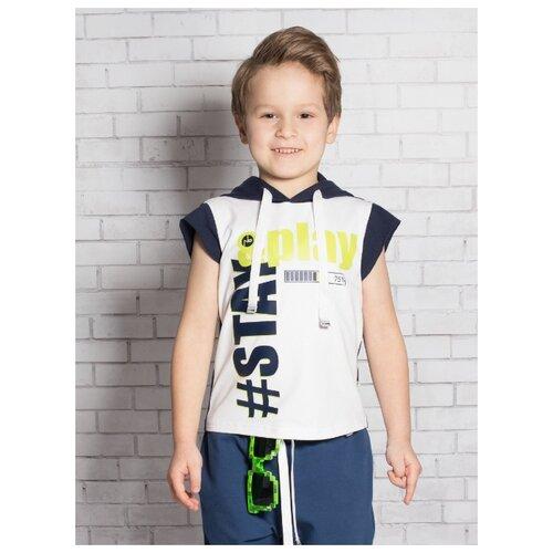 Купить Футболка Nota Bene размер 116, темно-синий, Футболки и майки