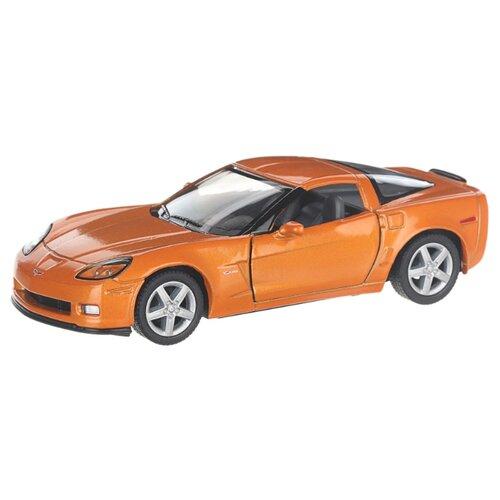 Купить Детская инерционная металлическая машинка с открывающимися дверями, модель Chevrolet Corvette Z06, оранжевый, Serinity Toys, Машинки и техника