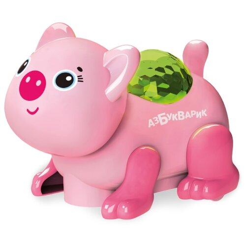 Купить Развивающая игрушка Азбукварик Диско-зверята. Свинка светло-розовый, Развивающие игрушки