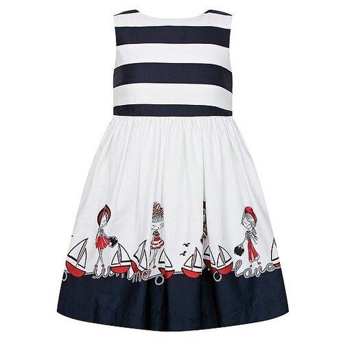 Купить Платье Mayoral размер 110, белый/синий, Платья и сарафаны