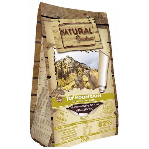 Корм для кошек NATURAL Greatness Top Mountain беззерновой, при чувствительном пищеварении 2 кг greatness
