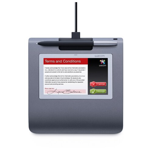 Графический планшет WACOM SignPad (STU-530) серый графический планшет wacom mobile studio pro 13 dth w1320l ru