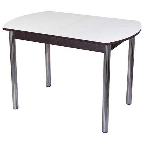 Стол кухонный Домотека Танго ПО 02, раскладной, ДхШ: 110 х 70 см, длина в разложенном виде: 147 см, ВН ст-БЛ венге/белый 02 хром
