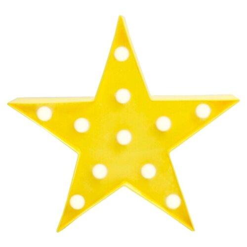настенные часы apeyron electrics pl 01 023 черный Декоративный светильник APEYRON electrics Звезда, желтый