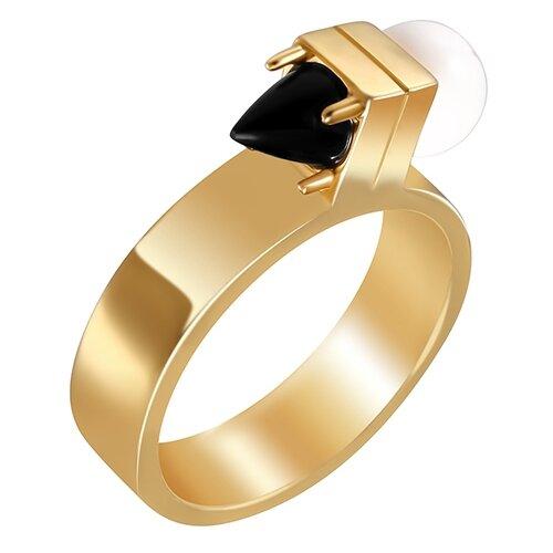 ELEMENT47 Широкое ювелирное кольцо из серебра 925 пробы с ониксом и говлитами R6202_KO_GO_OX_001_YG, размер 18- преимущества, отзывы, как заказать товар за 4940 руб. Бренд ELEMENT47