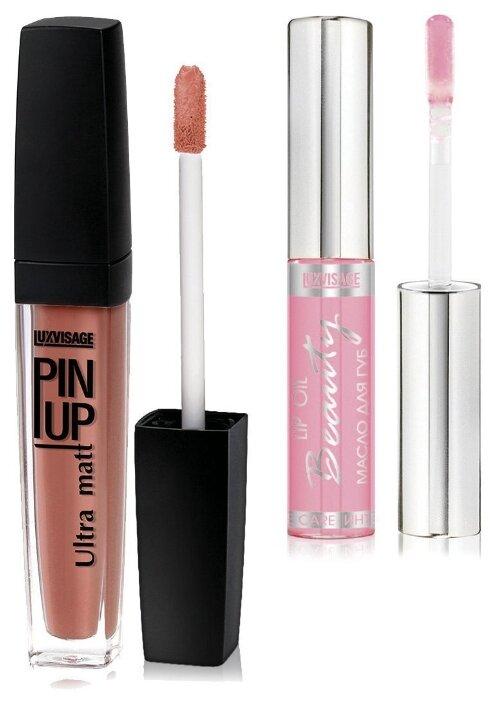 LUXVISAGE Блеск для губ Pin Up Ultra Matt и масло для губ