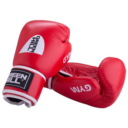 Боксерские перчатки Green hill Gym (BGG-2018) красный 12 oz