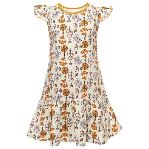 Купить Платье M&D размер 116, молочный, Платья и сарафаны
