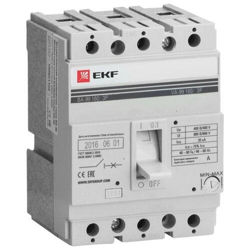 Автоматический выключатель EKF ВА-99/160 3P (термомагнитный) 35kA 125 А