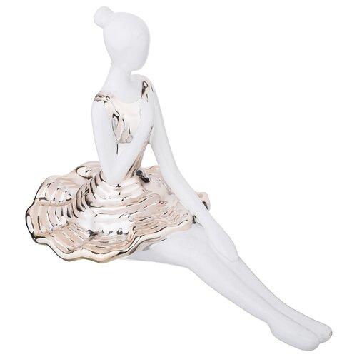 Фото - Статуэтка Lefard Балерина 699-226, 18 см белый/золотистый статуэтка lefard балерина 699 157 18 см белый серебристый