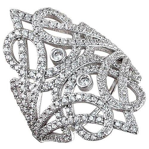 Эстет Кольцо с фианитами из серебра 01К1510191, размер 16.5 ЭСТЕТ