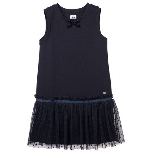 Купить Сарафан playToday размер 134, темно-синий, Платья и сарафаны